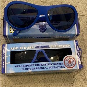 Babiators blue sunglasses.